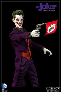 Alter Ego Comics presents the first entry in the much anticipated DC Comics Sixth Scale collection by Sideshow Collectibles, The Joker. Sorry Bats, it's going to be a bad day. #TheJoker  $174.99