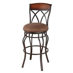"Callee Hayward 30"" Swivel Bar Stool Frame Finish: Flintrock Gray, Upholstery: Ford Brown"