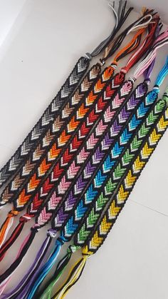 Your place to buy and sell all things handmade Ombre Chevron Friendship Bracelets with Borders Diy Bracelets Easy, Thread Bracelets, Embroidery Bracelets, Summer Bracelets, Beaded Bracelets, Etsy Embroidery, Ankle Bracelets, String Bracelets, Friend Bracelets