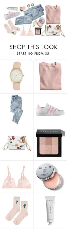 """""""High on Fairyfloss"""" by elyse-iii ❤ liked on Polyvore featuring Nine West, H&M, Wrap, adidas, Bobbi Brown Cosmetics, La Perla, Topshop, Byredo and Chopard"""