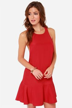 Keepsake Better Off Alone - Red Dress - Open Back Dress - $125.00