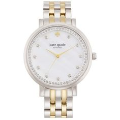 kate spade new york 'monterey' crystal dial bracelet watch, 38mm (2.460 NOK) ❤ liked on Polyvore featuring jewelry, watches, kate spade, butterfly jewelry, crystal jewelry, kate spade bracelet and bracelet jewelry