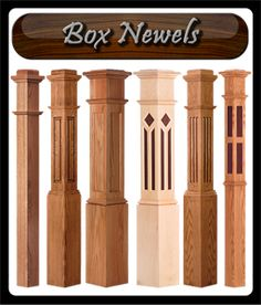 Stair Newel Post, Newel Posts, Wooden Staircase Railing, Banisters, Stair Makeover, Home Stairs Design, Diy Home Repair, House Stairs, Foyers