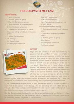 Cooking Measurements, South African Recipes, Atkins Diet, Easy Meals, Easy Recipes, Food Print, Good Food, Food And Drink, Bar Food