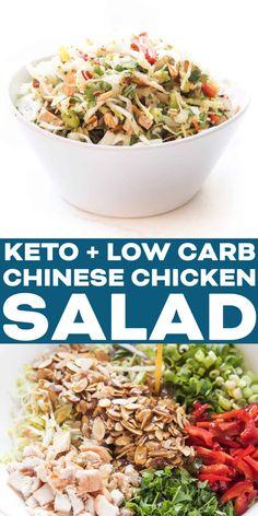 Chicken Salad Dressing, Keto Chicken Salad, Asian Chicken Salads, Chinese Chicken, Asian Dressing, Asian Salads, Chicken Recipes, Dressing Recipe, Healthy Chicken