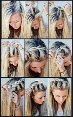 Penteado do dia! Tranças são sempre uma boa opção para arrumar o cabelo, vocês não acham?