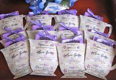 Tea Party teacup invitations/party favors