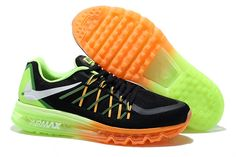 reputable site f4a27 48d37 Hot Best Nike Air Max 2015 Mango Black Silver Green Running Shoes for Women  Online for Sale, Buy Nike Air Max Nike