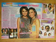 Selena Gomez and Demi Lovato, Two Page Pinup Clipping