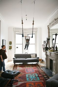 living room trapeze