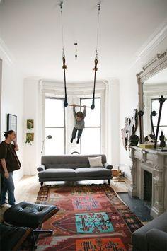living room trapeze