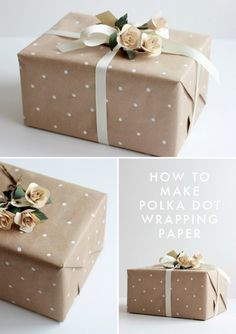 Brown Wrapping Paper Ideas ... This is Gorgeous!!