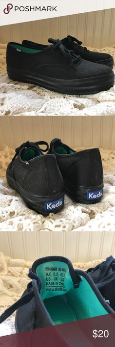 Platform Keds cute-ass black platform keds shoes ⭐️ never worn and in perfect condition ⭐️ size 9 ⭐️ tags; shoes keds black sneakers cute fashion womens Keds Shoes Sneakers