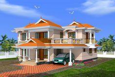 Creative Exterior Design, Attractive Kerala Villa Design s, Indian Villa exteriors, House elevations, kerala home design,villa elevations kerala,house elevation designs,home elevation plans in kerala