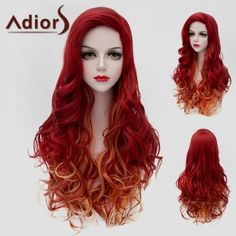 SHARE & Get it FREE | Fluffy Wavy Synthetic Charming Jacinth Ombre Orange Long Wig For WomenFor Fashion Lovers only:80,000+ Items·FREE SHIPPING Join Dresslily: Get YOUR $50 NOW!