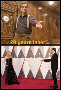 02 21 2019 8 ''Titanic'' Leonardo di Caprio Kate Winslet Watching Each Other Receive an Award *Screaming internally* Titanic Leonardo Dicaprio, Leonardo Dicaprio Kate Winslet, Young Leonardo Dicaprio, Titanic Quotes, Titanic Movie Facts, Leo And Kate, Movies And Series, Rms Titanic, Love Movie