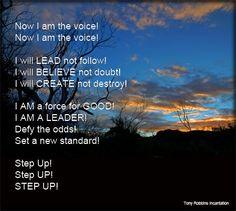 Be the Model | tony-robbins-i-am-the-voice-incantation