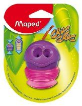 Maped Croc-Croc 2-Hole Pencil Sharpener with Expandable Canister, Assorted Colors
