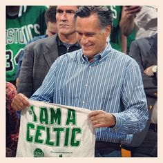 Presidential Hopeful Mitt Romney at a Celtics game.
