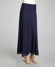 Take a look at this True Navy Convertible Maxi Skirt by kersh on #zulily today!