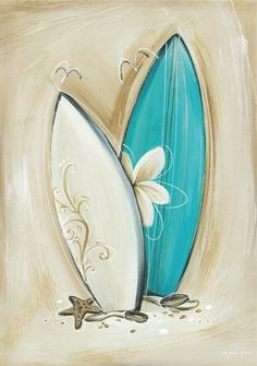 Canvas Painting Ideas for Beginners | Surfboards www.artindisguise.net
