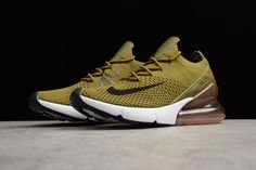 "premium selection adaef a4cf3 Nike Air Max 270 Flyknit ""Olive Flak"" Army Green Black-Coffee White"