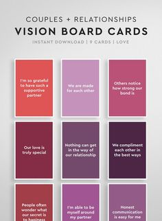 Vision Board Quotes for Relationships Vision Board Affirmation Cards, Manifestation Law Of Attraction, Law Of Attraction Quotes, Manifestation Journal, Secret Law Of Attraction, Affirmations For Anxiety, Money Affirmations, Positive Affirmations, Personal Development