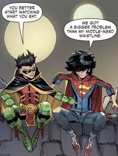 Batman Comic Art, Batman And Superman, Batman Robin, Arte Dc Comics, Manga Comics, Damian Wayne, Hq Dc, Batman Arkham Origins, Superman Family