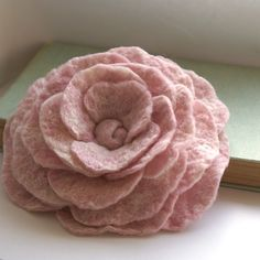 RESERVED SALE  Soft Pink Hand Felted Wool by jauntylittleflowers, $14.00