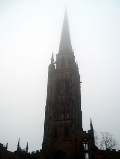 Coventry - Coventry Cathedral Fog 7th February 2005 #Coventry #Cathedral #Spire #Fog