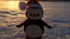 Pingvin med tomteluva - Falkgarn