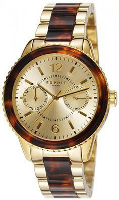 Zegarek damski Esprit ES106742003 - sklep internetowy www.zegarek.net Omega Watch, Rolex Watches, Gold, Stainless Steel, Ebay, Accessories, Sport, Products, Watches