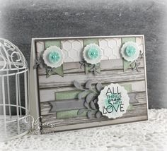 Handmade card by Julee Tilman using the Bloom & Grow set from Verve.  #vervestamps