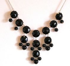 Black Bubble Statement Necklace  Similar to by cheerfullycharmed, $34.00