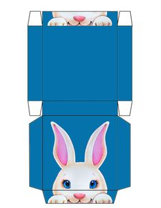 Easter hp gable gift box large free printable pinterest easter bunny peek small flat box free to use and free to share easter templateseaster negle Images