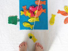 Juego de pesca magnético..perfecto para adaptarlo para terapias de habla y lenguaje pegandole laminas o palabras a los peces