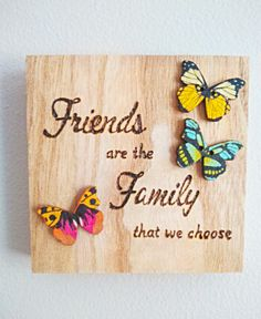 Gift for friend best friend gift gift for her graduation Friend Birthday Gifts, Best Friend Gifts, Gifts For Friends, Gifts For Her, Wooden Gifts, Handmade Wooden, Butterfly Gifts, Wood Burning Art, Pyrography