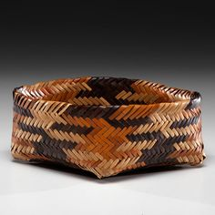 Eva Wolfe (Cherokee, 1922-2004) Double-Walled Basket Descended in the family of Asa Glascock (1898-1965)