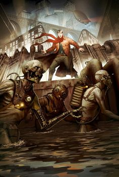Steampunk zombies. Now there's something you don't see everyday.