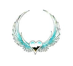 Mine has a red heart and a halo above the heart. It is the first tattoo I got, and I have it on my left shoulder blade.