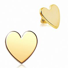 Dermal Top Gold Plated Heart Sold As Pairs Piercing Microdermal, Piercings, Industrial Barbell, Plaque, Pairs, Heart, Accessories, Inspiration, Tops