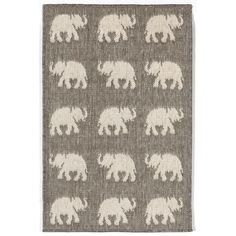 Found it at Wayfair - Slimane Silver Elephants Indoor/Outdoor Area Rug