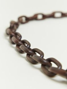 Parts Of Four Women's Long Seamless Rosewood Brass Link Necklace