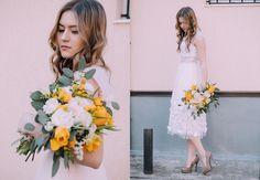 More photos in my blog: http://www.marielatte.com/2016/04/the-blooming-days.html Dress - Oksana Pravnyk AtelierBouquet - MyKvitkaLifeHair