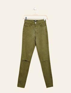 Pantalon skinny taille haute bleu ciel femme • Jennyfer Haut Kaki, Vetement  Pas Cher Femme 1a644204b5f7