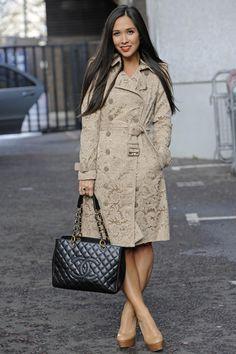 c9eb8f824dd97a Myleene Klass and Chanel GST Burberry Coat, Burberry Handbags, Chanel  Handbags, Chanel Shopping