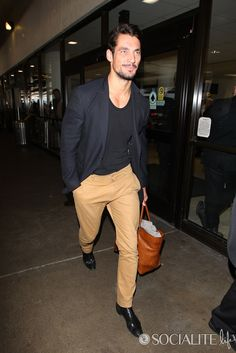 David Gandy Arrives In Los Angeles