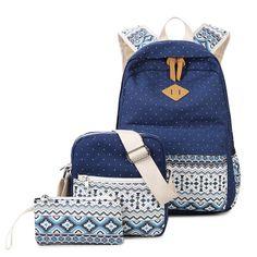 2c11ca0a0140 Shoulders Female Tribe Student Book Canvas Back Multifunctional. Travel  LuggageTravel BagsTeenagersGirl BackpacksSchool ...