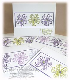 Flower Shop and Sassy Salutations in Elegant Eggplant, Perfect Plum and Old Olive w Candy Dots