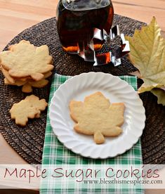 Maple sugar cookies are easy, quick to whip up and you don't even have to go to the store to get maple flavoring! These sweet treats are the perfect snack. Maple Cookies, Sugar Cookies Recipe, Cookie Recipes, Xmas Cookies, Cookie Ideas, Candy Recipes, Pizza Recipes, Köstliche Desserts, Delicious Desserts